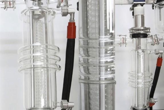 molecular distillationr with internal condenser