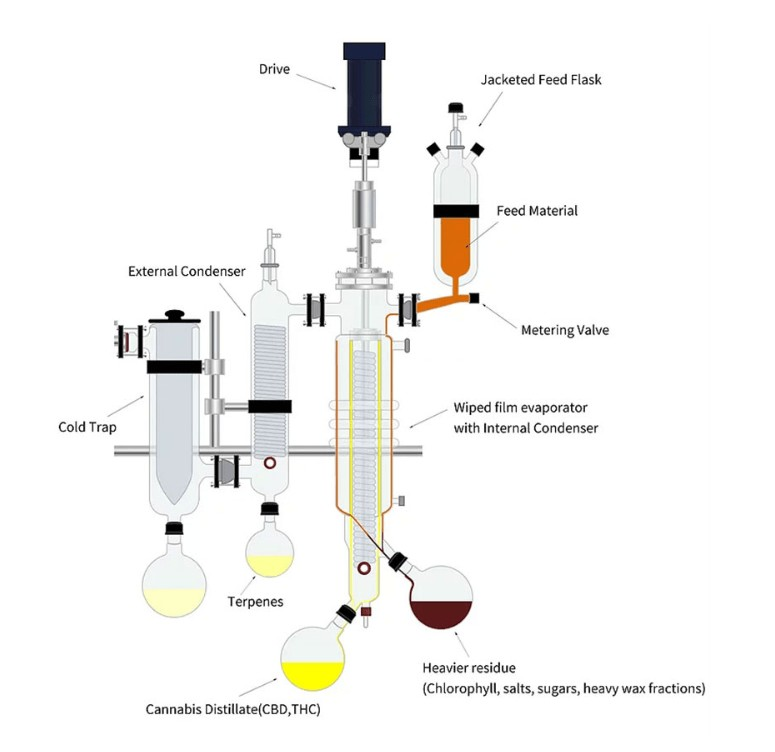 ertraction CBD by using molecular distillation