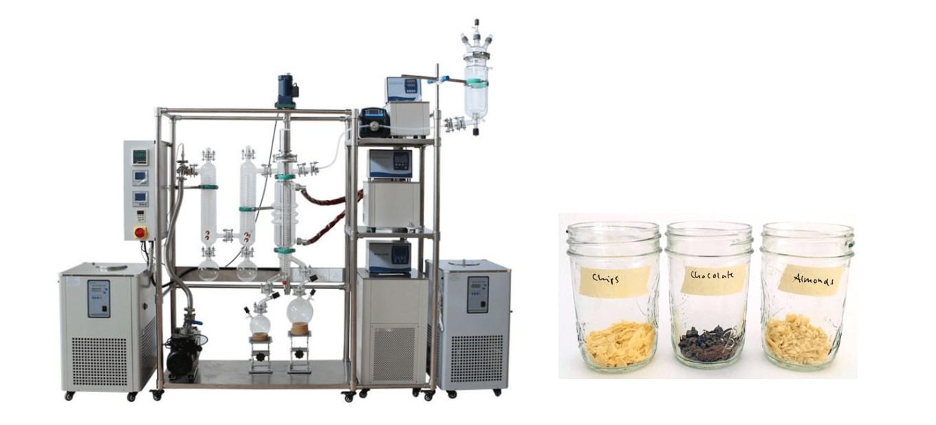 fat extraction by using molecular distillation