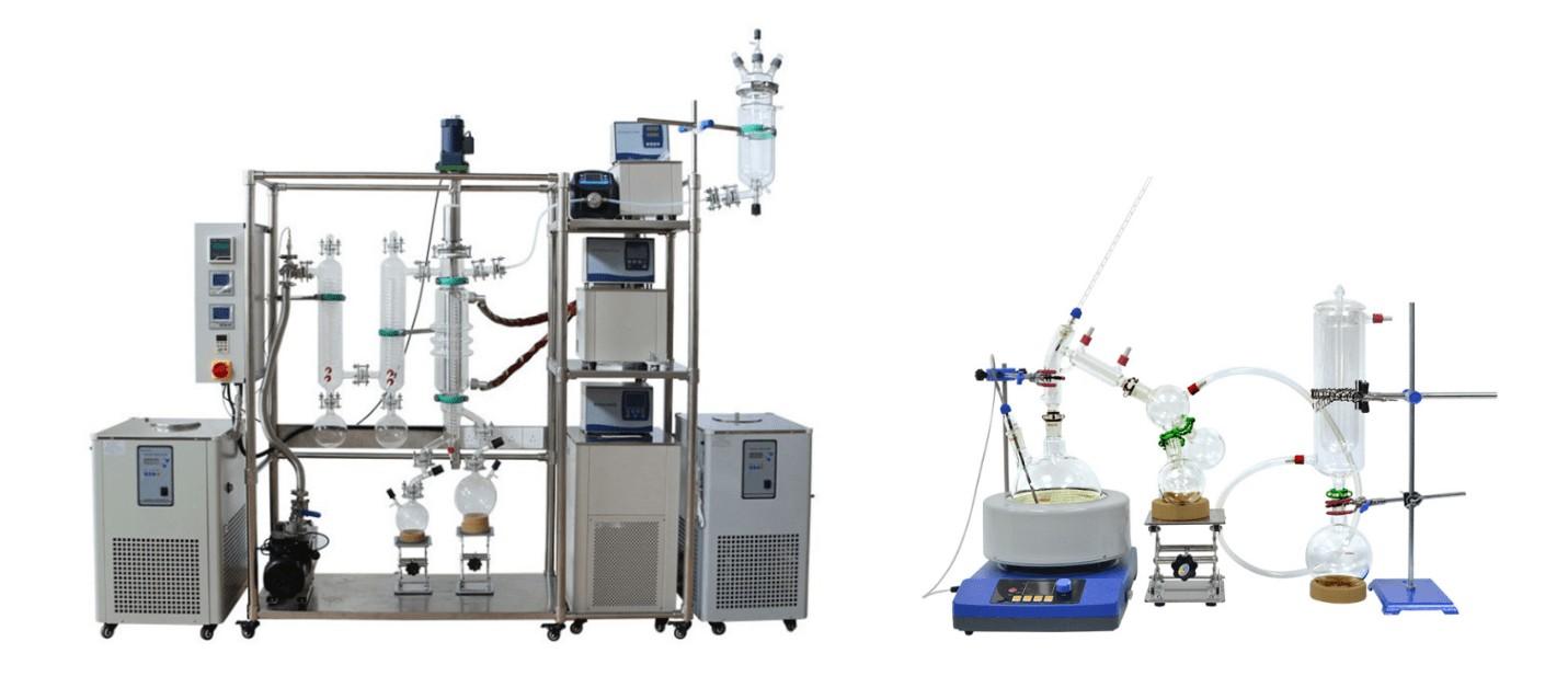 molecular distillation vs fraction distillation