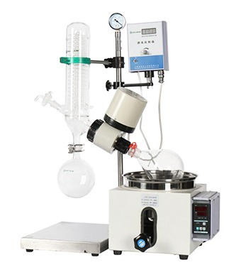 rotary-evaporator-with-hand-lift design