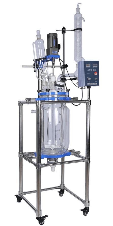 100L glass reactor price