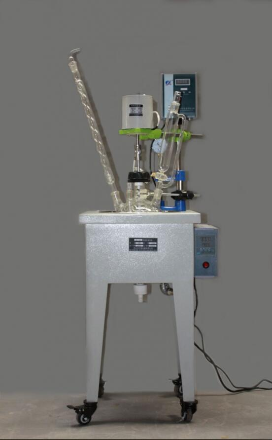 lab use small single layer glass reactor