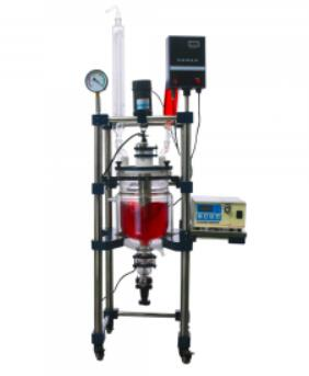 jacketed glass reactor for chemical use