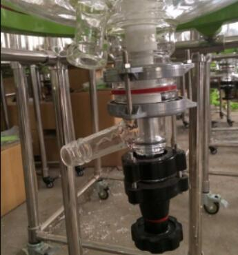continuous glass stirred reactor exhaust system