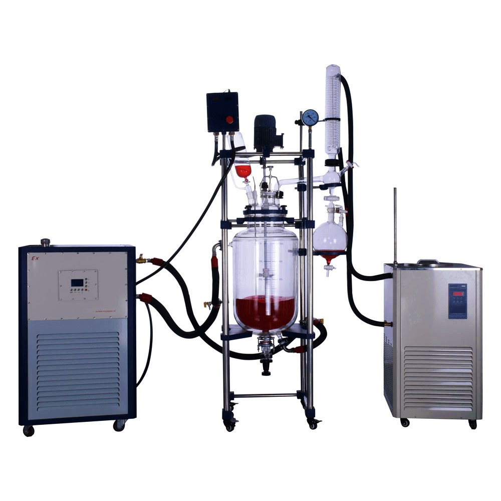 double/single jacketed glass reactor