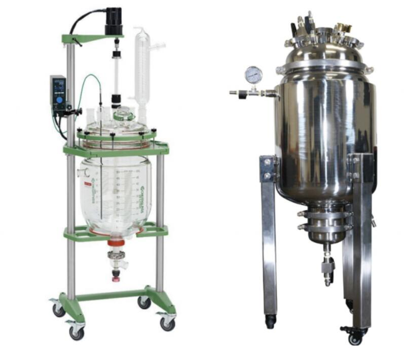 stainless steel jacketed glass reactor
