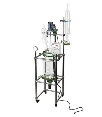 pilot-glass-reactor vessle