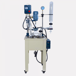 100 liter single glass reactor in pharma
