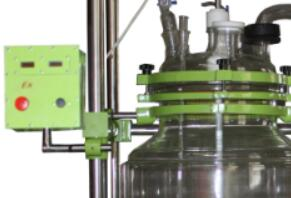 continuous glass stirred tank with speed control