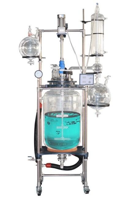 10L glass reactor in pharma